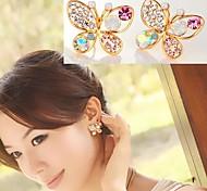 diamante colorido grandes brincos arco # 29-1