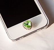 Rhinestone Little Heart Home Button Sticker for iphone(Assorted Color)