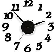 diy quarto decalque moderno número dígito decoração da parede interior do relógio adesivo