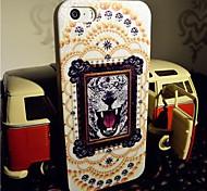 toophone® joyland éclair poudre TPU le tigre photo carte de retour pour iPhone 5 / 5s