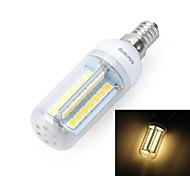 marsing® e14 diseño cruzado 10w 900lm 56 x 5050 SMD llevó la lámpara caliente fría / blanco bulbo del maíz de luz - (ac 220v)