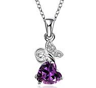 высший сорт Elegent в форме сердца изысканный кристалл ожерелье