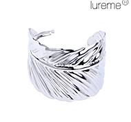 Lureme®Silver Plated Leaf Shaped Alloy Bracelet