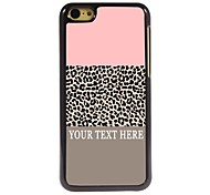 Personalized Phone Case - Leopard Print Pattern Design Metal Case for iPhone 5C