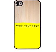 Personalized Phone Case - Yellow Design Metal Case for iPhone 4/4S