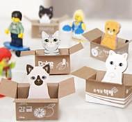 Cute Cat компактные блокноты липкое (случайные цвета)