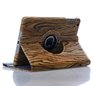 High Quality Wood Grain Rotation Design Angle Adjustable Tablet Protect Case for iPad mini 2 (Assorted Colors)