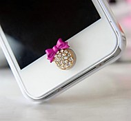 1Pcs Rhinestone Bowknot 1cm Buttons Stickers for iPhone and Others
