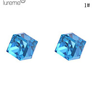 Lureme®Cubic Shining Glass Stud Earrings