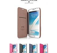 promotion quatre séries yu étuis en cuir de téléphone pour la note 2 N7100 (couleurs assorties)