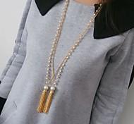 perla maglione catena nappa collana # 56-1