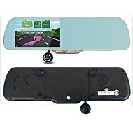 5MP 5.0 Inch 1080P Touch Android4.0 GPS WiFi FM G-Sensor Parking Rearview Mirror Dash Car DVR Dual Camera