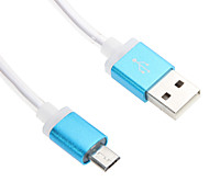 100CM Micro USB Aluminum Shining Turning Light Cable for HTC/Xiaomi/Huawei