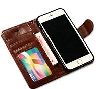 Double Folding PU Leather Full Body Case with Card Slot, Frame Slot and Stand TPU Cover for iPhone 6 (Assorted Colors)