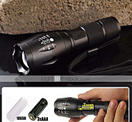 5 mode 2000 LM CREE XM-L T6 Zoomable point LED Flashlight (18650, chargeur de batterie)