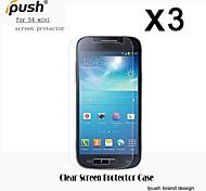 elevata trasparenza protezione dello schermo LCD HD con un panno di pulizia per mini Samsung Galaxy S4 (3 pezzi)