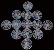13 Set Acrylic Rhinestones Wheel Nail Art Decoration