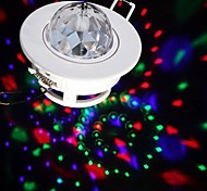 LED Voice-activated Rotating Ceiling Lamps 3W RGB Full Color Stage Light Spot DJ Disco Crystal Bulb Lamp