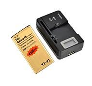 """yi-yi ™ batterie de remplacement 3.8V 4500mAh de 0,8 """"chargeur de batterie LCD pour Samsung Galaxy i9600 S5 /"""
