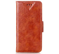 Oily Leather Pattern Wallet Leather Case for iPhone 6(Assorted Colors)