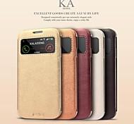 promotion ka cinq étuis en cuir série de téléphone pour samsung i9500 de la (couleurs assorties)