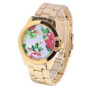 fleur femelle rose table de ceinture en acier circulaire montre chinois montre de mouvement (couleurs assorties)