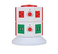 Overload Protector 5V/2.1A 2 Floor with 6 USA Outlets and 4 USB Power Strips