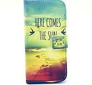 Setting Sun Pattern Full Body Case with Stand  for iPhone 6