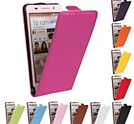 Flip-Open Solid Color Pattern Genuine Leather Full Body Case for Huawei P6 (Assorted Color)