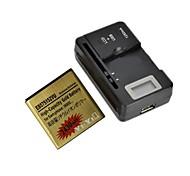 """yi-yi ™ batería 2430MAH 3.7v reemplazo con 0,8 cargador """"batería lcd para samsung galaxy s / i9000"""