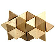 Puzzle Toy For Gift  Building Blocks Wood Beige Toys