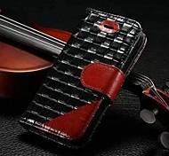 touchés motif tissé photo couleur de style portefeuille cadre housse en cuir authentique pour l'iphone 5 / 5s (couleurs assorties)