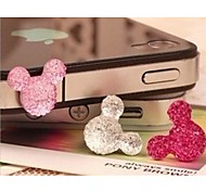 Crystal Mickey Head 3.5 MM Resin Earphone Jack for iPhone/iPad and Others(Random Color)