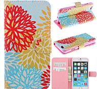The Beautiful Coral Pattern PU Leather Full Body Case for iPhone 6
