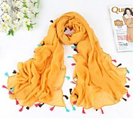 ocio de moda bufandas colorido borla de las mujeres
