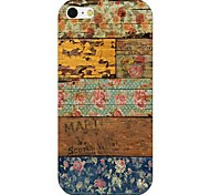 Wood Grain Flower Pattern Back Case for iPhone 6