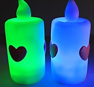 New Romantic Iove LED Light Emitting Electronic Candle(5 Pack,Red,Orange,RGB)