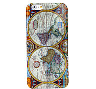 Map of World Pattern Silicone Soft Cover for iPhone 6 Plus