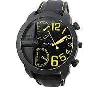 Men's Half A Face Unique Style  Silicone Band Quartz Wrist Watch (AssortedColors)