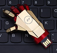 ZP 32GB Iron Man Hand Pattern Metal Style USB Flash Pen Drive