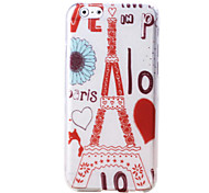 Eiffel Tower Pattern TPU Soft Case for iPhone 6