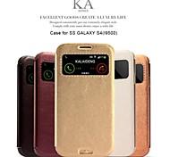 promoção de cinco ka casos de couro série telefone para samsung s4 i9500 (cores sortidas)