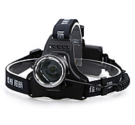 JiaGe YD-985 Waterproof Single-mode 1xCree XR-E Q5 Rechargeable Headlamp(2x18650,Black)