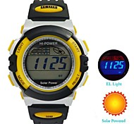 Men's Rubber Strap Solar Powered Digital Outdoor Sport Wrist Watch (Assorted Colors)