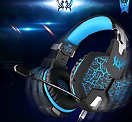EACH G1100 Headphone Wired 3.5mm Over Ear Gaming Vibration Breathing Light with Microphone For PC