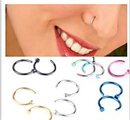 Body Piercing Jewellery Unsex Stainless Steel Nose Hoop Nose Rings Body Piercing Jewelry Ear stud