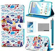 patrón de coche el amor caja de cuero de la PU de coco Fun® con protector de pantalla y el stylus para Samsung Galaxy Note N7100 2