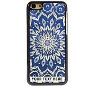 Personalized Phone Case - Blue Lotus Design Metal Case for iPhone 5C