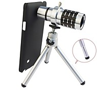 Apexel Detachable 12X Telephoto Lens Set with Back Case and Tripod for Samsung Galaxy Note 4