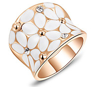 Roxi® Rose White Flower Ring